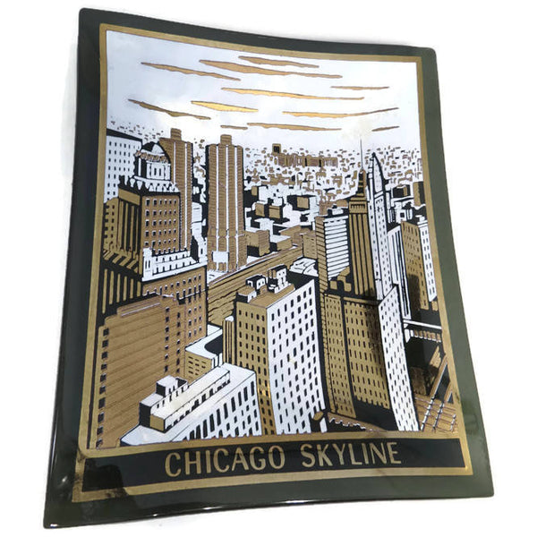 Vintage Chicago Skyline Dish