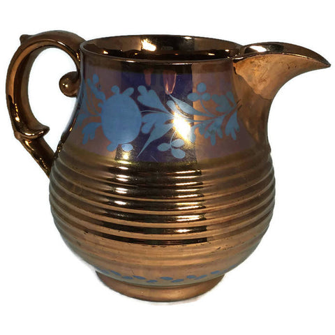 Copper Lusterware Large Creamer - Duckwells
