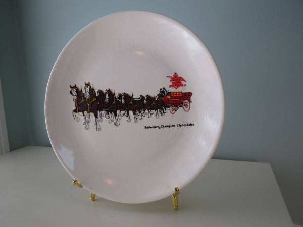 Vintage Budweiser Clydesdale Plate
