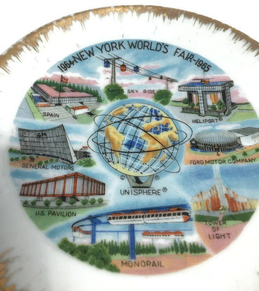 Vintage 1964 New York World's Fair Souvenir - Trinket Dish - Mid Century, Great Graphics, Mod Retro, Mad Men, Collectible, New York City