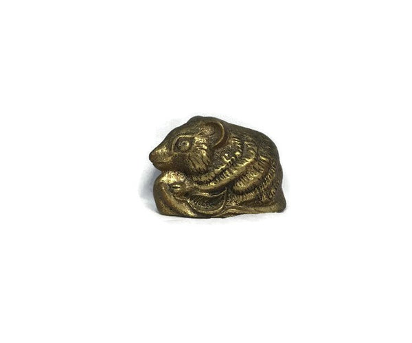 Vintage Brass Chipmunk Paperweight - [vintage and antiques], Duckwells