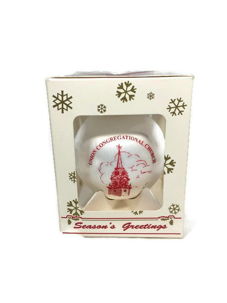 Union Congregational Church Christmas Ornament, Weymouth Massachusetts - [vintage and antiques], Duckwells