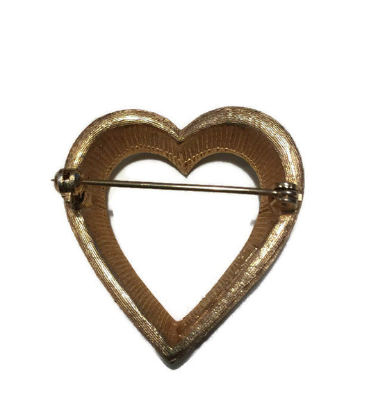 Vintage Heart Pin - [vintage and antiques], Duckwells