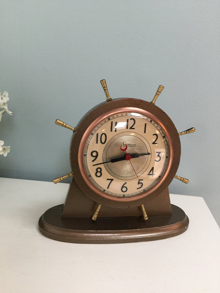 Vintage Nautical Shelf Clock