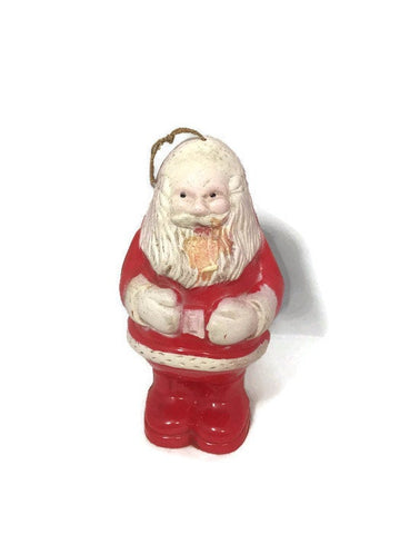 1950s Plastic Santa Christmas Ornament - [vintage and antiques], Duckwells