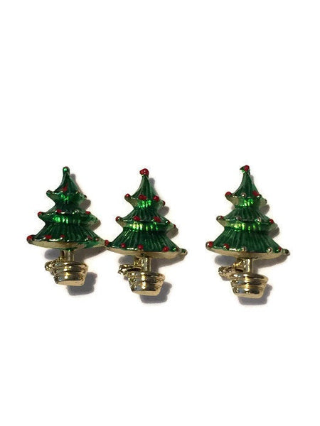 Vintage Christmas Tree Pins - Duckwells