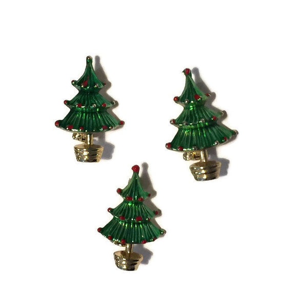Vintage Christmas Tree Pins - [vintage and antiques], Duckwells