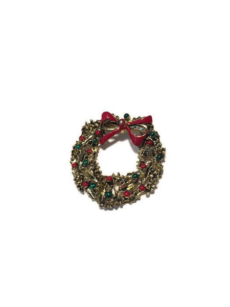 Christmas Wreath Pin - Duckwells