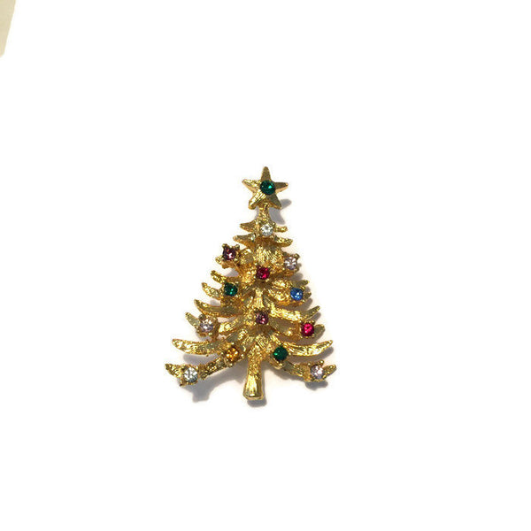 Vintage Christmas Tree Pin - [vintage and antiques], Duckwells