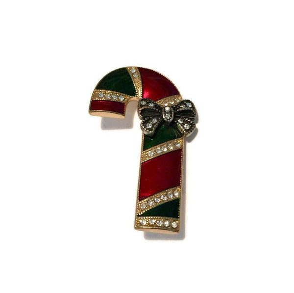Vintage Christmas Candy Cane Pin - Duckwells