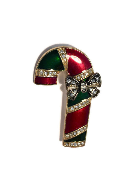 Vintage Christmas Candy Cane Pin - [vintage and antiques], Duckwells