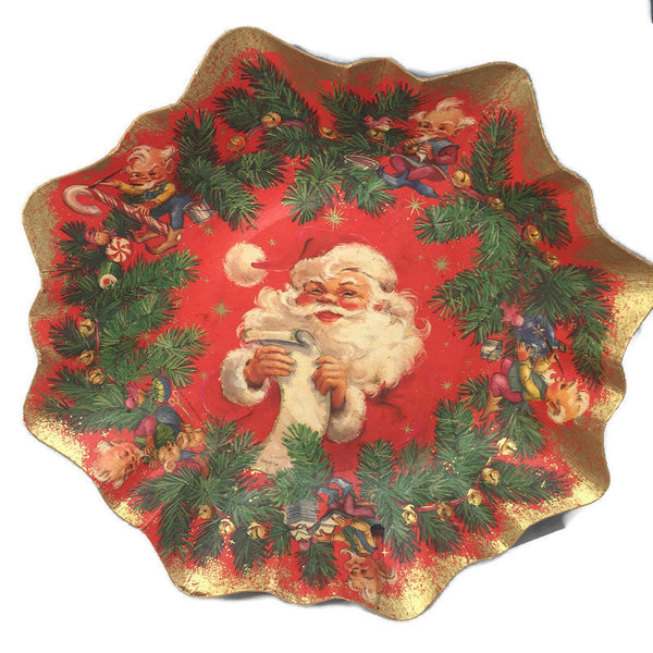 Vintage Western Germany Christmas Paper Bowls - [vintage and antiques], Duckwells