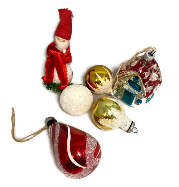 Vintage Glass Christmas Ornaments, 1960s-1980s Retro Holiday Decor - Duckwells