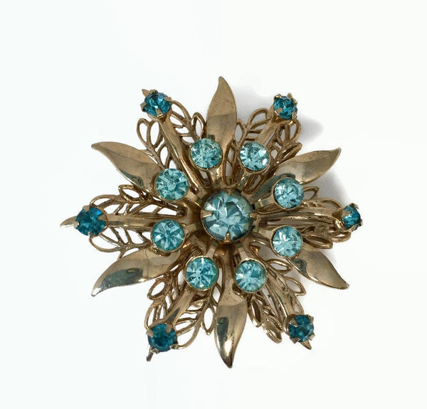 Midcentury Rhinestone Pin Brooch - [vintage and antiques], Duckwells
