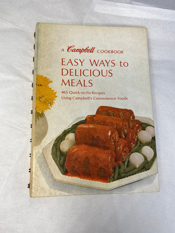 1970s Campbell Cookbook Easy Ways to Delicious Meals - Duckwells