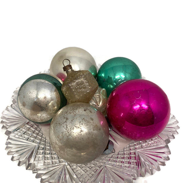 Mid Century Glass Christmas Tree Ornaments - Duckwells