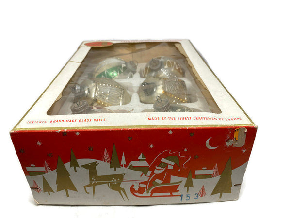 Vintage European Christmas Glass Ornaments with Original Box - Duckwells