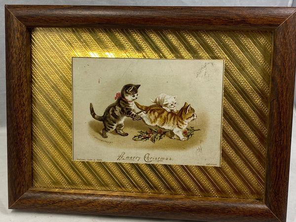 Antique Christmas Postcard by Raphael Tuck & Sons, Framed and Matted - Duckwells