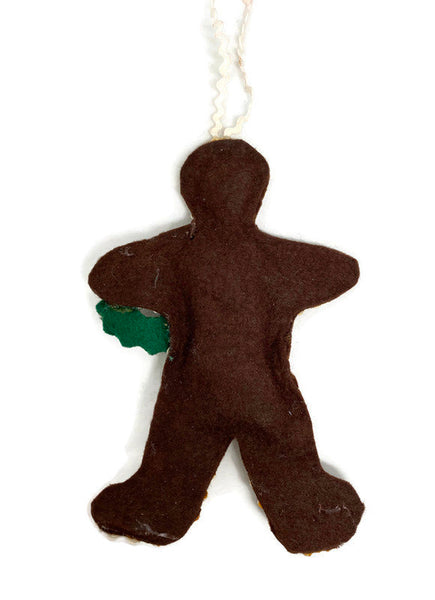 Vintage Christmas Gingerbread Felt Ornament - Duckwells