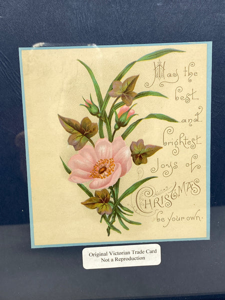 Antique Christmas Framed Tradecard - Duckwells