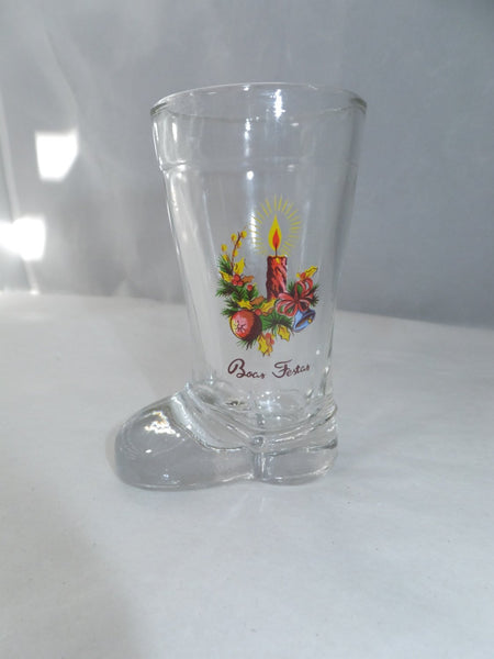 Vintage Christmas Boot Shot Glasses