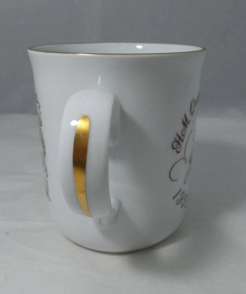 Vintage Silver Jubilee Mug - Queen Elizabeth, 1976 Royal Commemorative Cup, English Porcelain Souvenir, Royal Worcester