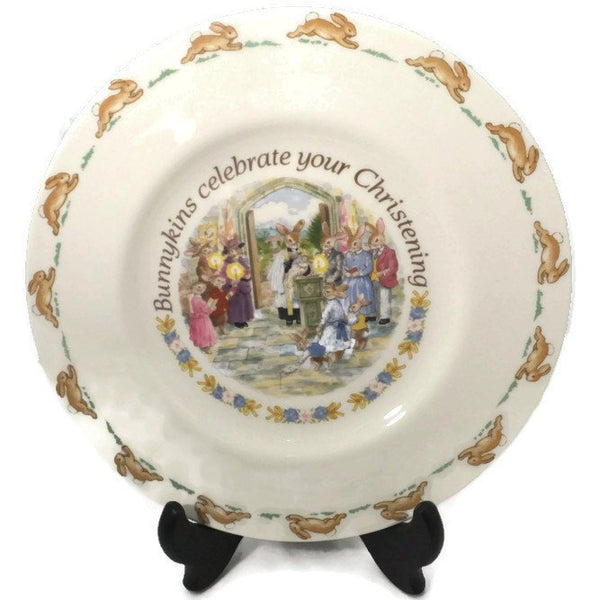Royal Doulton Bunnykins Christening Plate - [vintage and antiques], Duckwells