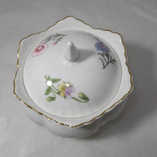Vintage Aynsley Wild Tudor Fine Bone China Covered Dish - Made in England-Duckwells