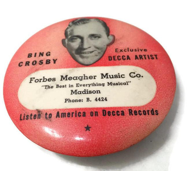 Vintage Bing Crosby Decca Records LP Cleaning Brush - [vintage and antiques], Duckwells