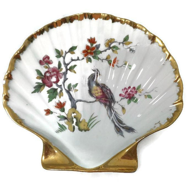 Vintage Limoges French Porcelain Shell Dish - Duckwells