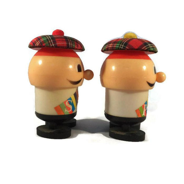 Vintage Retro Plastic Salt and Pepper Shakers Mid Century Kitchen Collectible - Duckwells