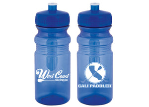 West Coast Paddle Sports Giving Away Reusable Water Bottles with Cali Paddler at Hanohano Ocean Challenge