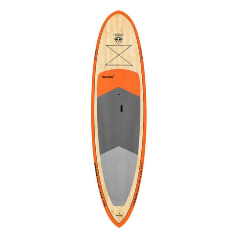 "BRUSURF CHARGER ORANGE BAMBOO SUP 10'6"" X 32"" - West Coast Paddle Sports"