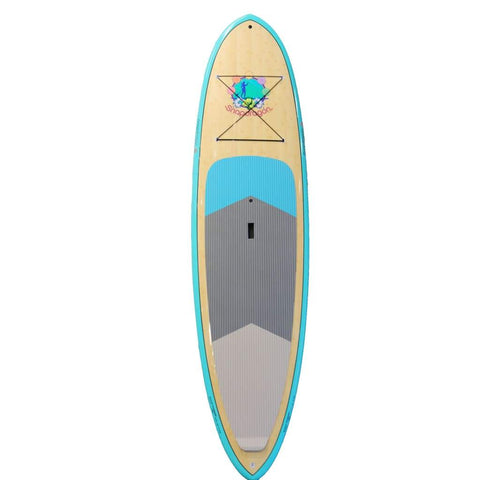 "BRUSURF CHARGER SNAPDRAGON BLUE BAMBOO SUP 10'6"" X 32"" - West Coast Paddle Sports"