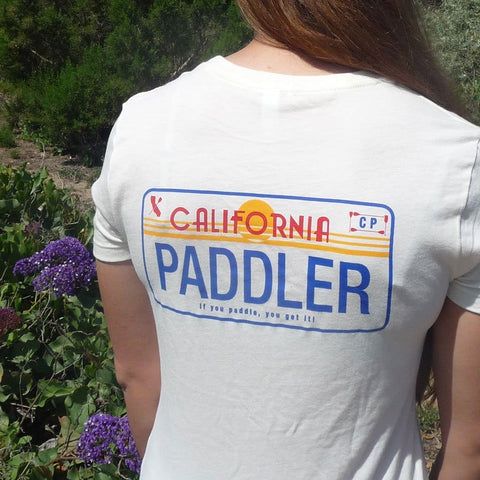 CALI PADDLER LICENSE PLATE BABY DOLL SHIRT - APPAREL