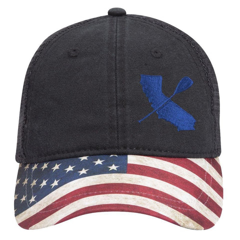 CALI PADDLER US FLAG BILL PADDLE HAT - West Coast Paddle Sports