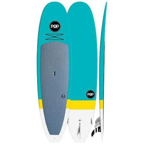 10'6″ Classico – Turquoise/Yellow Pop Boards - West Coast Paddle Sports