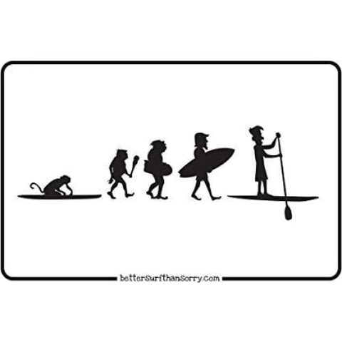EVOLUTION OF SUP PADDLEBOARDING METAL SIGN - MISC