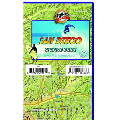 FRANKO SAN DIEGO SURFING MAP (FOLDED) - MISC