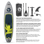 Paradise Board Company Inflatable - 11' x 32 Grey - BOARDS