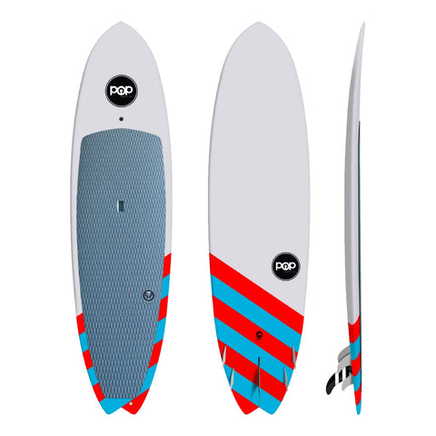 Pop Saltwater Beaver SUP 9'6″ X 30″ X 4¼″ 22lbs 140L - BOARDS