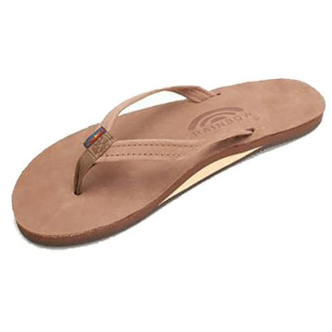 RAINBOW DARK BROWN LEATHER SINGLE LAYER LADIES SANDALS - West Coast Paddle Sports