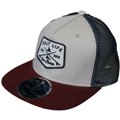 SALT LIFE FIN CHASER SNAPBACK TRUCKER - West Coast Paddle Sports