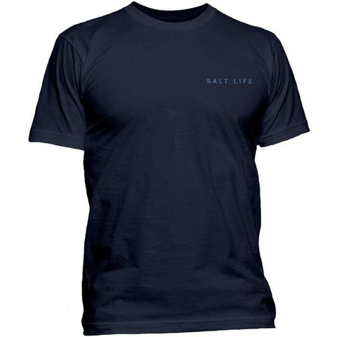 Salt Life Navy Vast Waters S/S Tee - West Coast Paddle Sports
