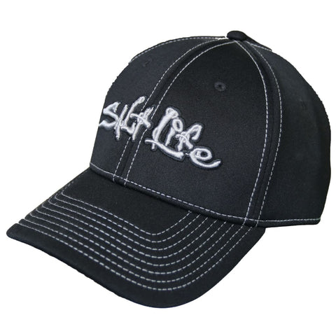 SALT LIFE TECHNICAL SIGNATURE A-FLEX BLACK HAT - APPAREL