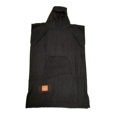 TERRY CLOTH CHANGING PONCHO - Black - APPAREL