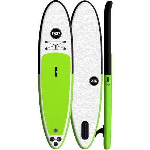 The POP Up – Black/Green Inflatable SUP - West Coast Paddle Sports