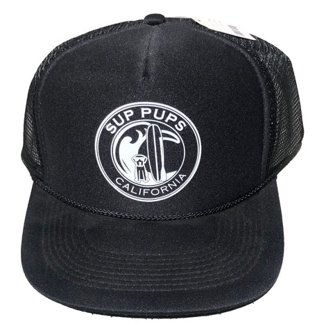 THE SUP PUPS HAT - O/S / BLACK - APPAREL