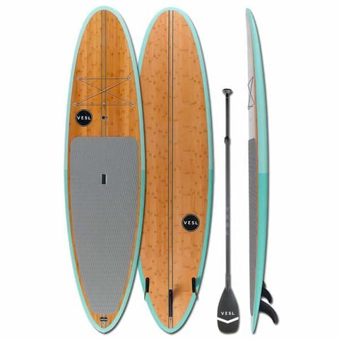 "VESL BAMBOO SEAFOAM 10'6"" X 32"" X 4.7"" PKG - West Coast Paddle Sports"