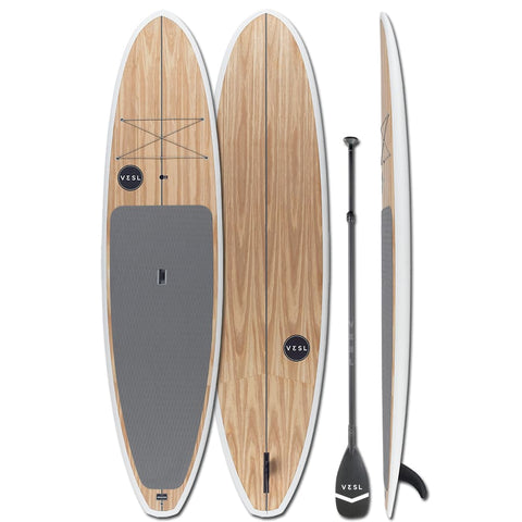 VESL PAULOWNIA ECO SERIES PADDLE BOARD PACKAGE - MATTE - West Coast Paddle Sports